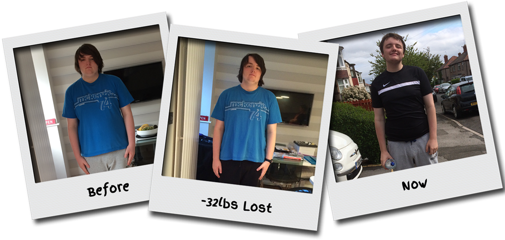 Image: Declan's weightloss journey